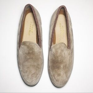 Suede leather loafers flats
